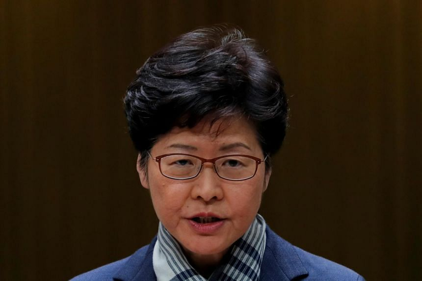 Hong Kong's Chief Executive Carrie Lam addresses a news conference in Hong Kong, China on Nov 11, 2019.