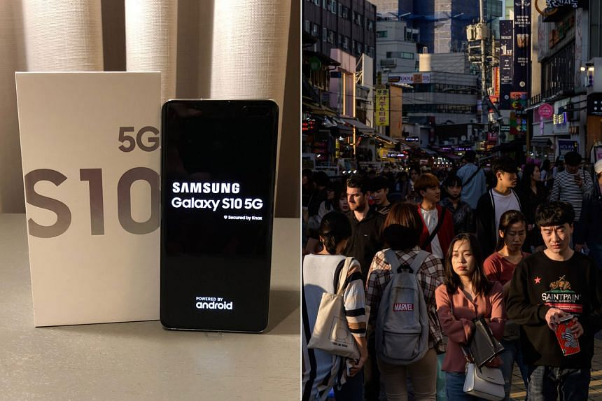 Samsung's Galaxy S10 5G was launched shortly after 5G services were rolled out in South Korea in April this year.