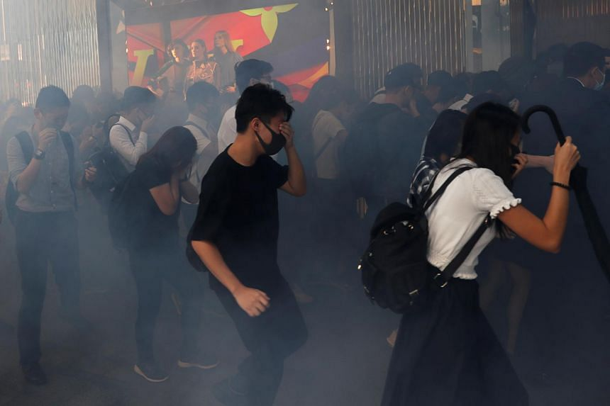 Protesters disrupt commute again after violent Hong Kong day
