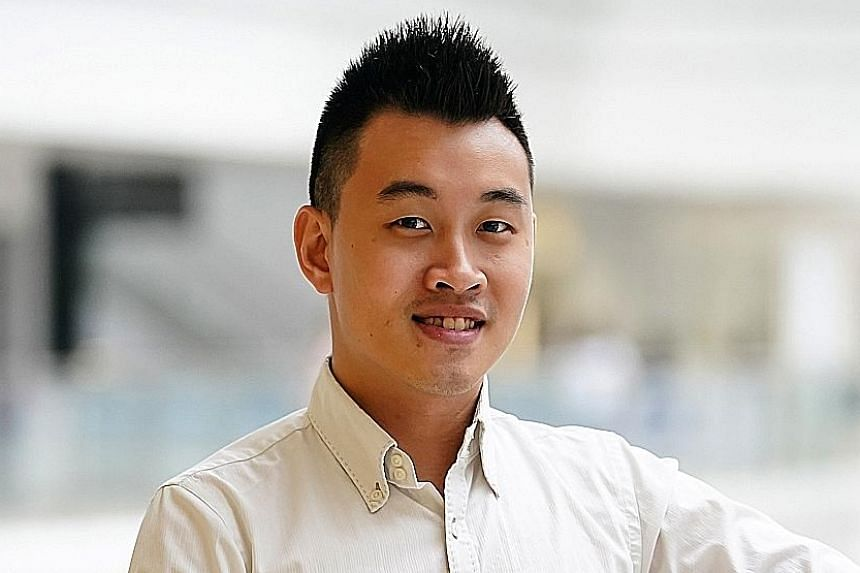 Mr Nicholas Hoon, a project engineer at Enlighted Sales and Service, on the on-the-job training programme.
