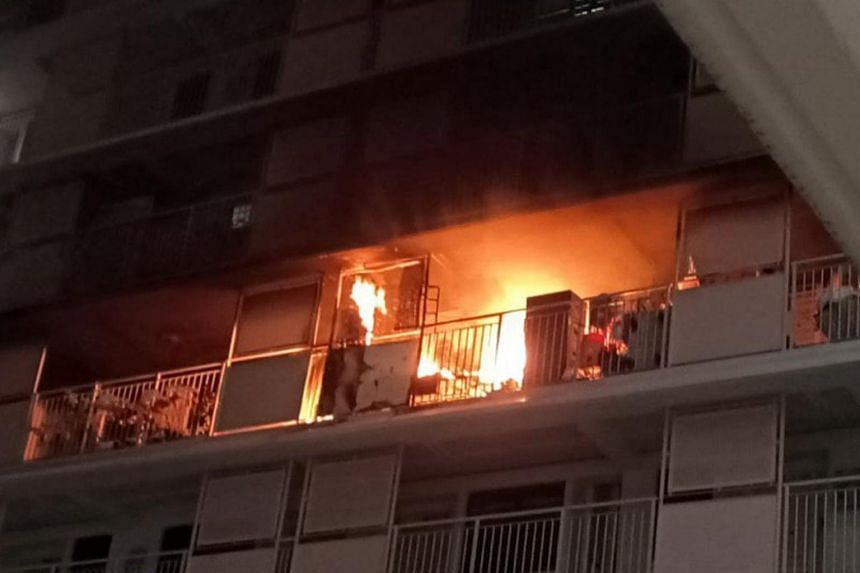A fire broke out on Nov 1 at around 4.30am at a 13th-floor unit of Block 210A Bukit Batok Street 21. The SCDF had been unable to use the hose reel and extinguished the blaze with water from its emergency vehicles.