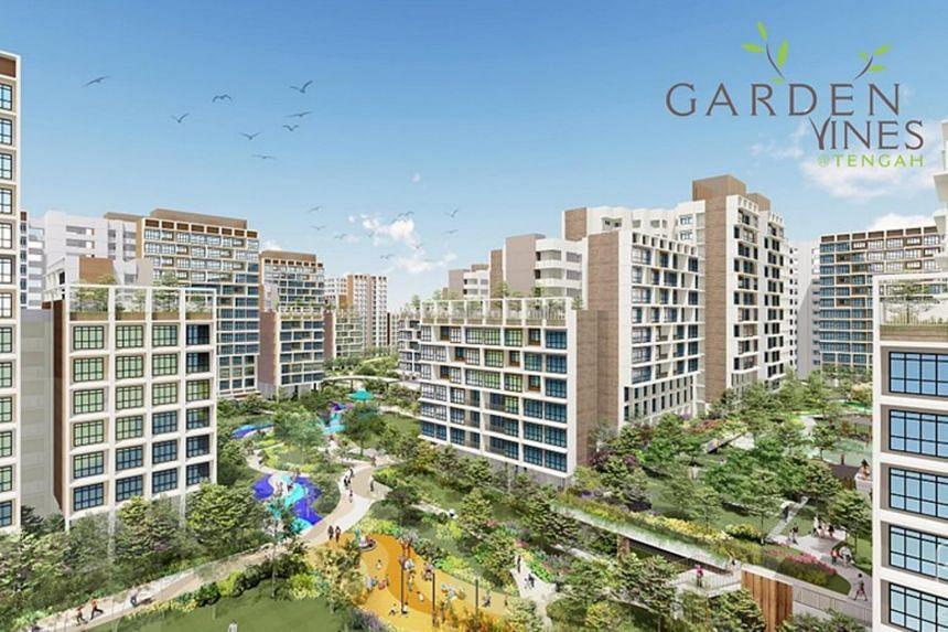 Garden Vines @ Tengah will be bounded by Tengah Drive, Tengah Garden Walk and Plantation Crescent.