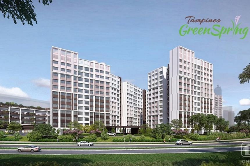Tampines GreenSpring will be bounded by Tampines Avenue 5 and Tampines Walk.
