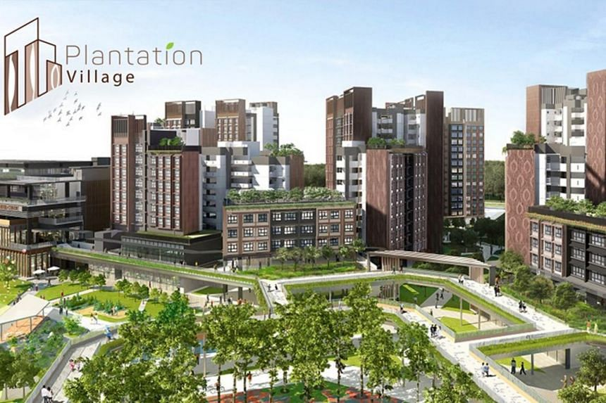 Bounded by Tengah Drive and Plantation Crescent, Plantation Village is located next to an upcoming MRT station.