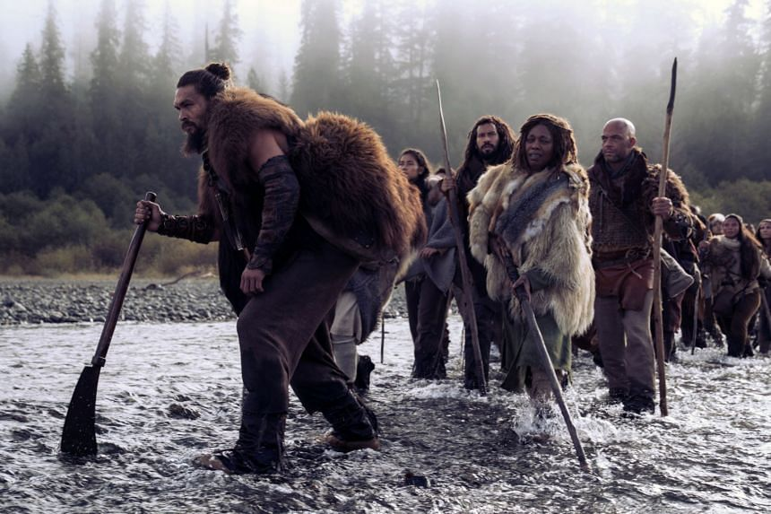 Jason Momoa plays the leader of a tribe and the father of twins in new Apple TV+ drama See.