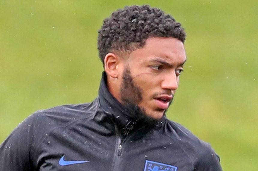 Joe Gomez, who also had an altercation with Sterling a day earlier during the Premier League match between their two sides at Anfield, was sporting a scar below his right eye during England's training session.