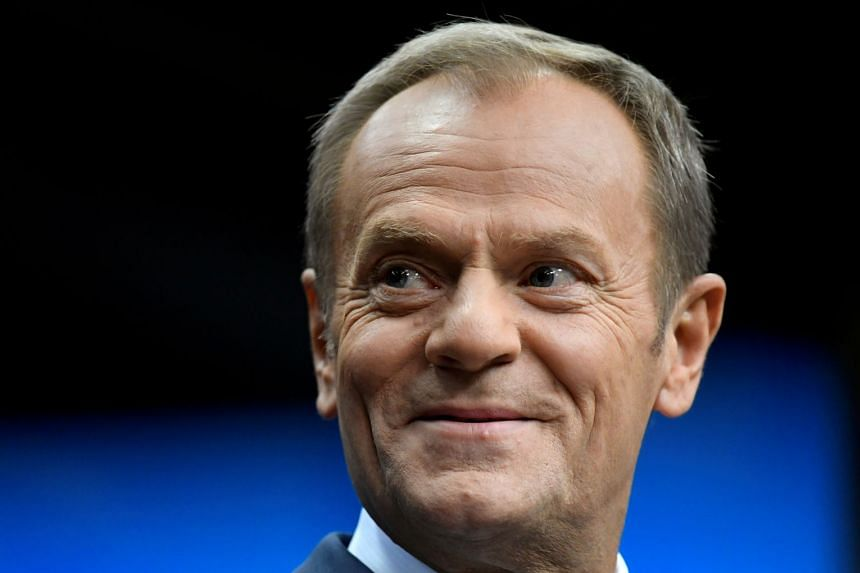 Tusk (above) said only a united Europe could confront an assertive China and play an effective global role.