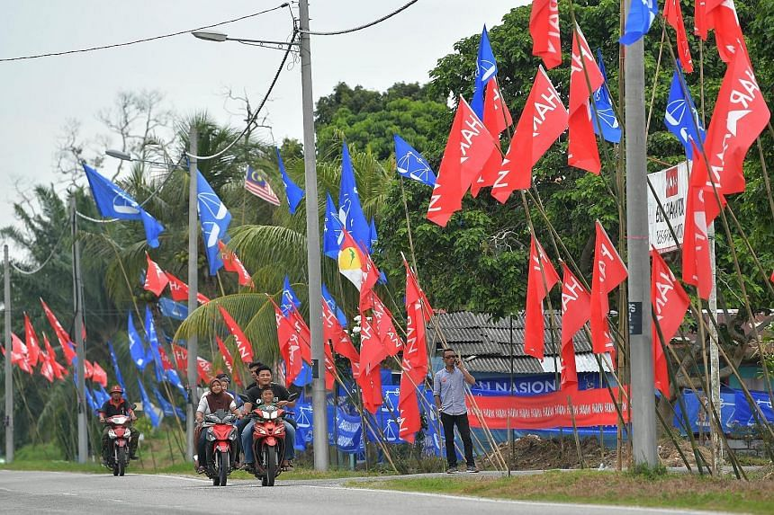 Voters in Johor's Tanjung Piai go to the polls on Saturday, with the Umno-led Barisan Nasional confident of reclaiming the seat from the ruling Pakatan Harapan. PHOTO: BERNAMA