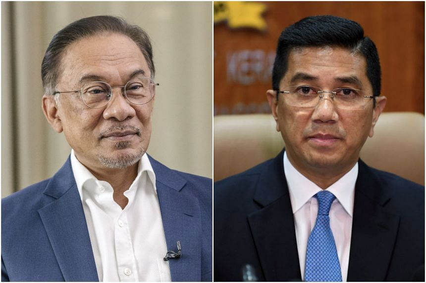 The tensions between Parti Keadilan Rakyat's (PKR) president Anwar Ibrahim (left) and deputy president Azmin Ali have existed for years as both men are keen to lead PKR.