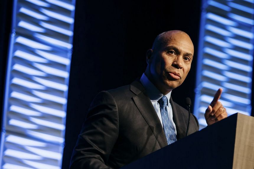 Deval Patrick speaks at an event in Cleveland in 2018.