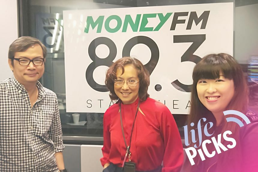 ST's film correspondent John Lui (left) and food critic Hedy Khoo (right) share with Money FM's Claressa Monteiro (centre) their picks for the week on this episode of Life Picks.