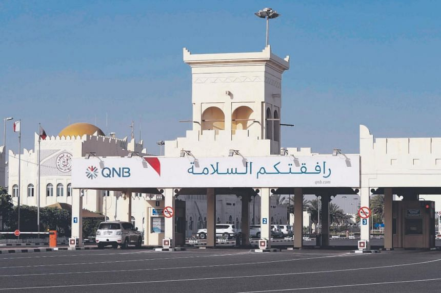 In this photo taken on June 23, 2017, cars are seen on the Qatari side of the Abu Samrah border crossing with Saudi Arabia.