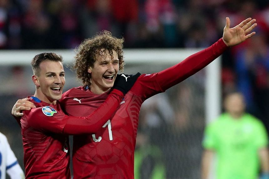 Alex Kral (right) and Vladimir Darida of Czech Republic celebrate after the match.