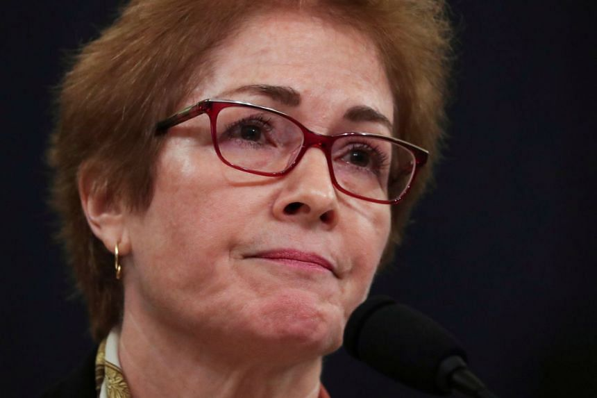 Marie Yovanovitch testifies before a House Intelligence Committee hearing.