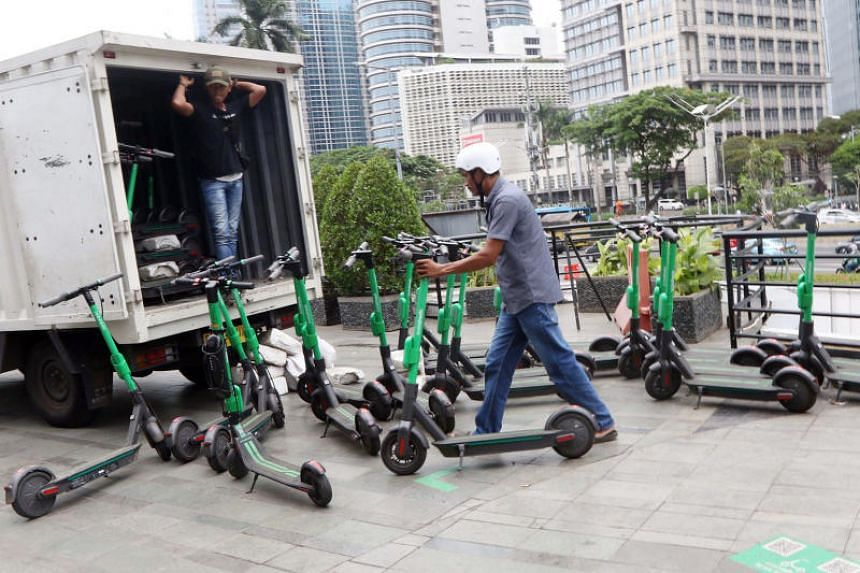 Users of e-scooters in Indonesia will not be allowed to ride them on pavements, pedestrian bridges and roads.