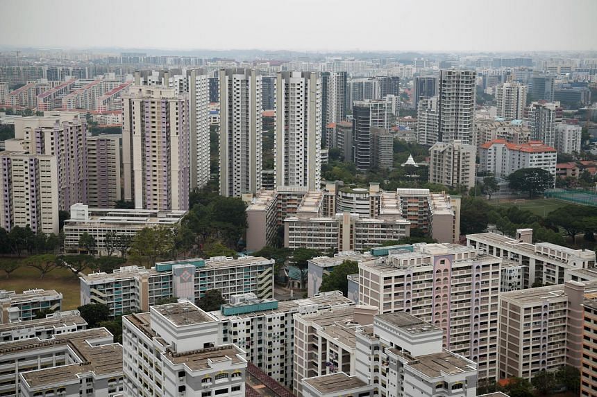 Private and public housing seen from Whampoa estate, on Sept 16, 2019.