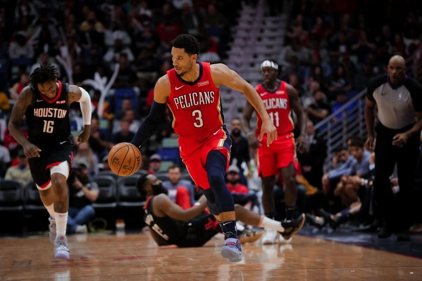 New Orleans Pelicans guard Josh Hart drives down court against the Houston Rockets at the Smoothie King Center on Nov 11, 2019.