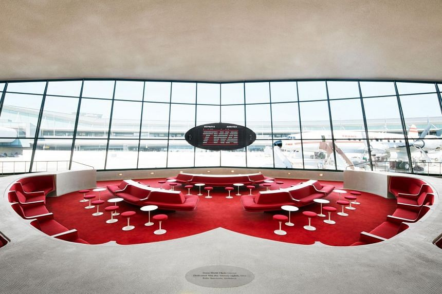 The biggest wow factor at TWA Hotel is the original terminal building, which is now the lobby.