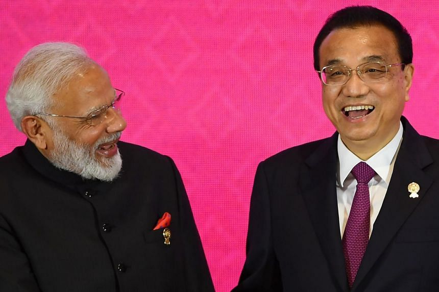 India's Prime Minister Narendra Modi with China's Premier Li Keqiang during the 3rd Regional Comprehensive Economic Partnership Summit in Bangkok on Nov 4, 2019. A key reason behind India's decision to not join RCEP was its fear that the agreement co