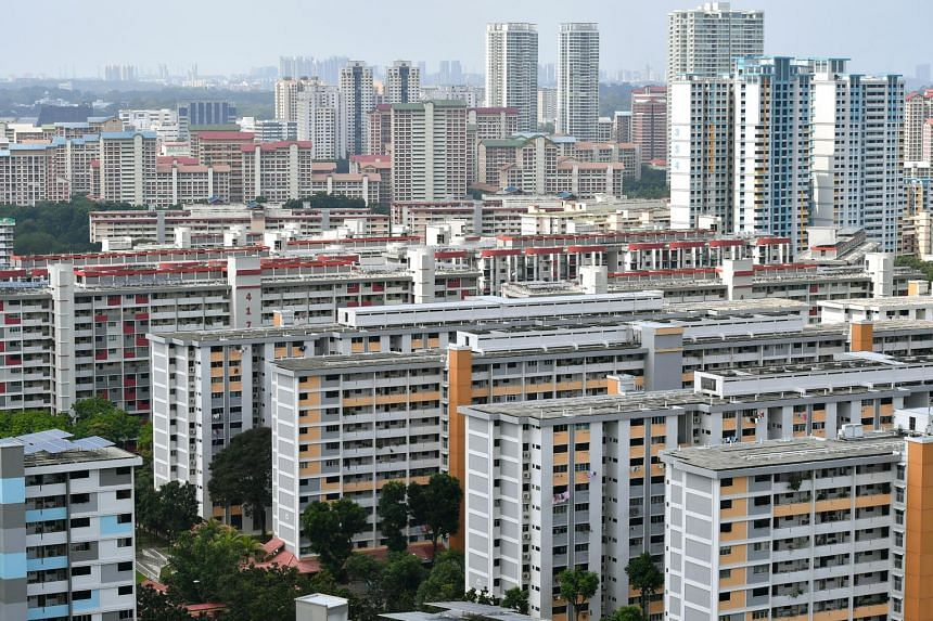 HDB blocks in Ang Mo Kio in a photo taken on Feb 4, 2018.