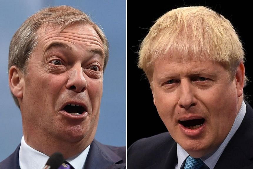 """Arch eurosceptic Nigel Farage has accused Bristish Prime Minister Boris Johnson's Tories of """"corruption of the worst level"""" by offering his candidates jobs and peerages to withdraw from the election."""