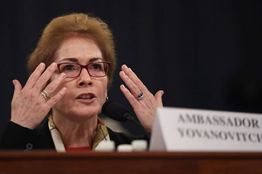 Marie Yovanovitch testifies before the House Intelligence Committee.