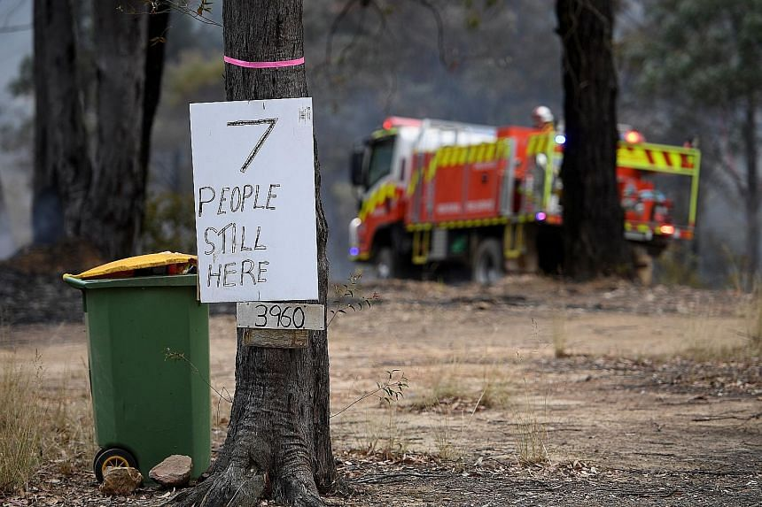 A message from residents in an area affected by bushfires in New South Wales. Four people are dead and over 300 homes in the state have been razed.