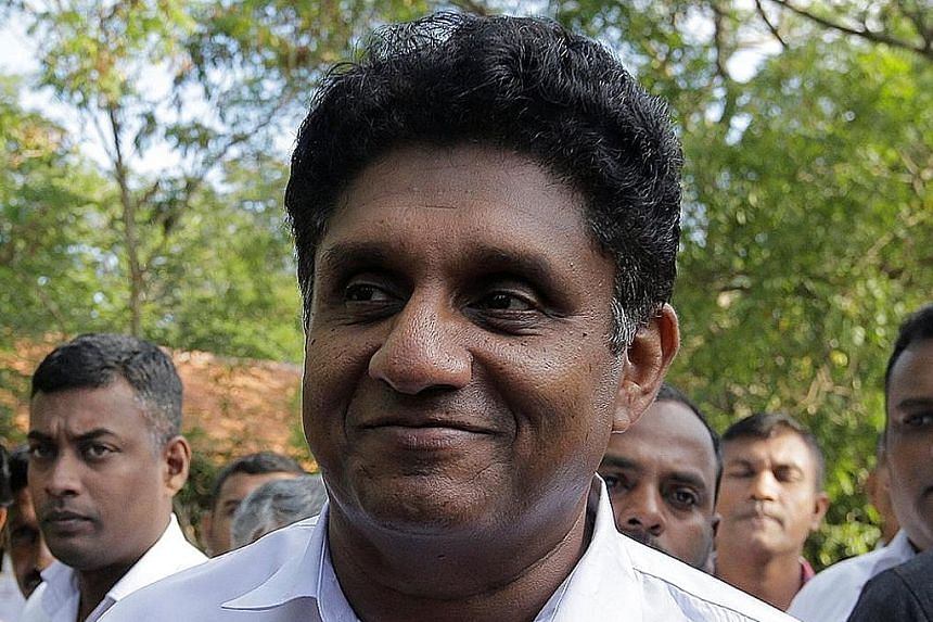 Mr Gotabaya Rajapaksa and Mr Sajith Premadasa (above) are front runners in the presidential contest.