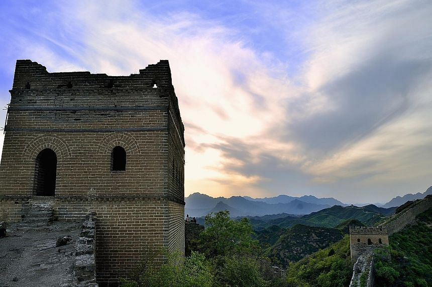 The Great Wall at Jinshanling is in a mountainous area north-east of central Beijing.