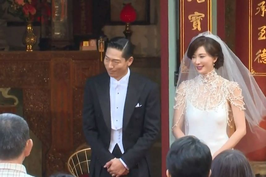 Taiwanese model Lin Chi-ling married Japanese singer-actor Akira in Tainan on Nov 17, 2019.