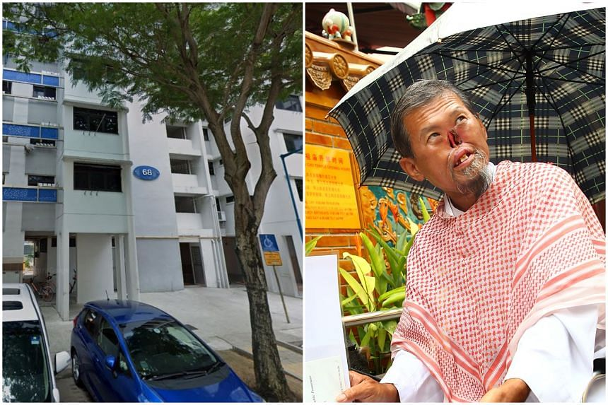 """Mr Zeng Guoyuan, better known as """"Parrot Man"""", was found lying motionless at the foot of Block 68 Geylang Bahru and pronounced dead at the scene by a paramedic, on Nov 16, 2019."""