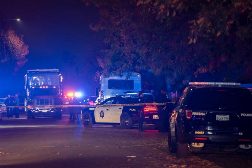 The shooting occurred on the 5300 block of East Lamona Avenue, just south of the Fresno Yosemite International Airport.