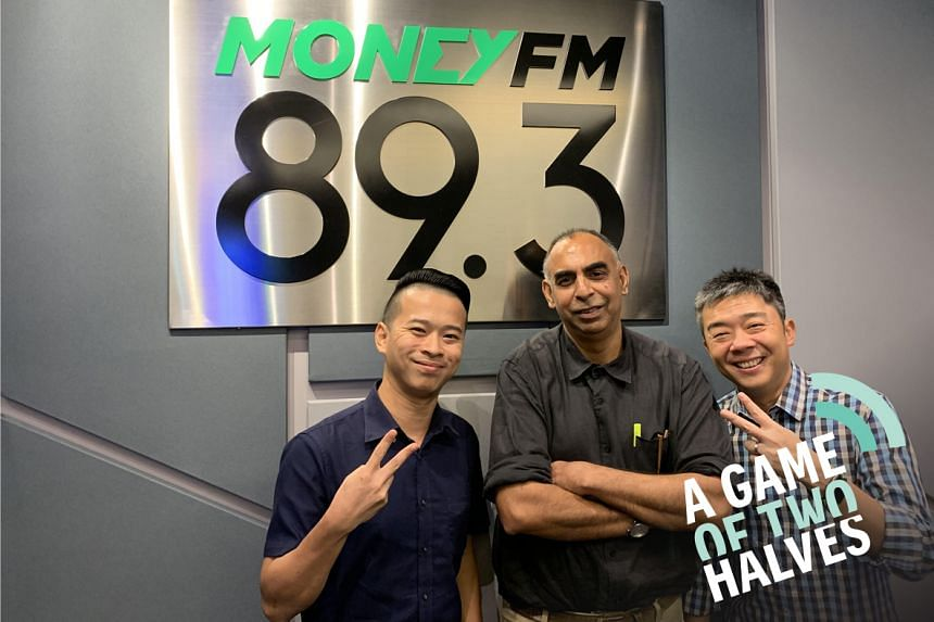 Money FM's Bernard Lim (right)hosts ST assistant sports editorRohit Brijnathand sports correspondent David Leeto talk about discipline at home and the international football fronts.