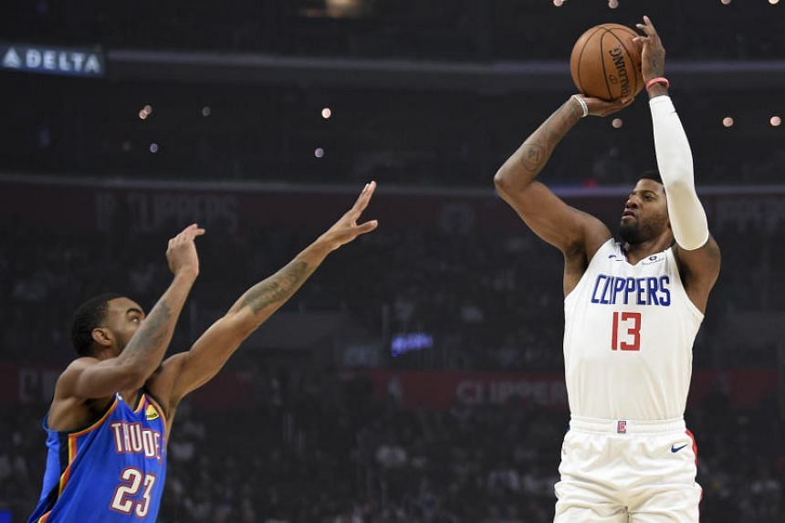 Nba Paul George And Clippers Sink Old Side Thunder In Final