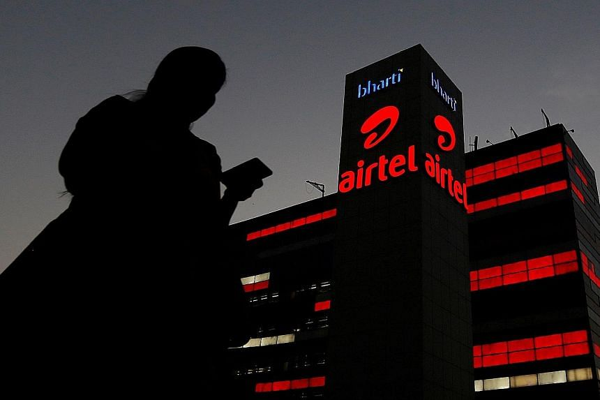 Bharti Airtel and Vodafone Idea both took a hit last month after India's top court ordered them and others to pay billions in fees related to spectrum and licences that the government said were due from prior years. PHOTO: REUTERS