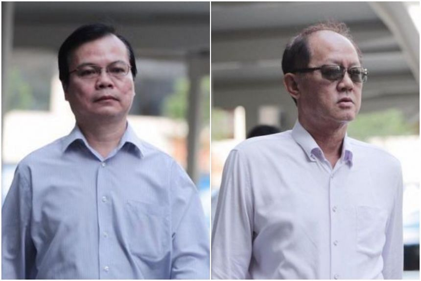 Wong Chee Meng (left) used his position to influence the outcome of tenders that companies were bidding for, while Chia Sin Lan offered bribes.
