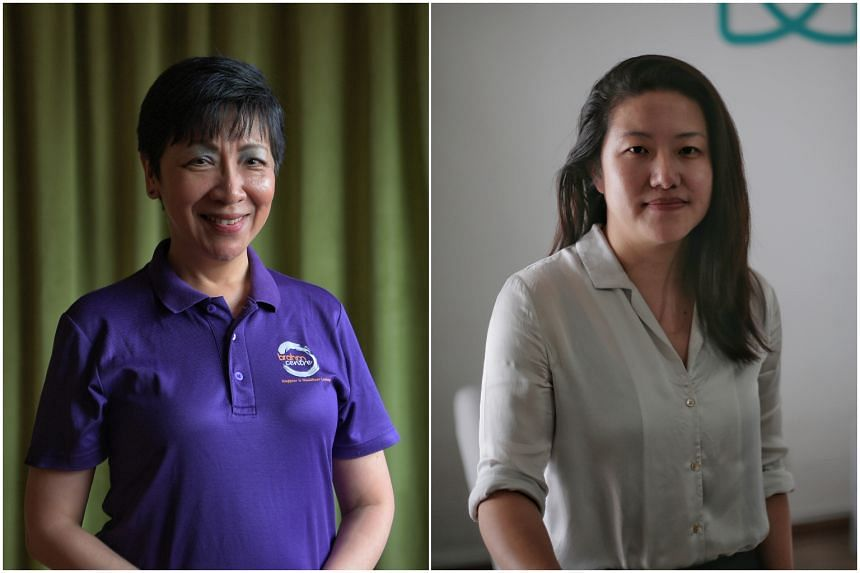 After carving out their own career successes,  Ms Angie Chew (left) and Ms Gillian Tee reached out to help others in need.