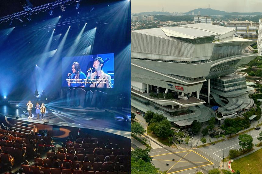 The purchase of The Star Vista mall (right), costing mega church New Creation $296 million, was secured on Oct 30 from CapitaLand.