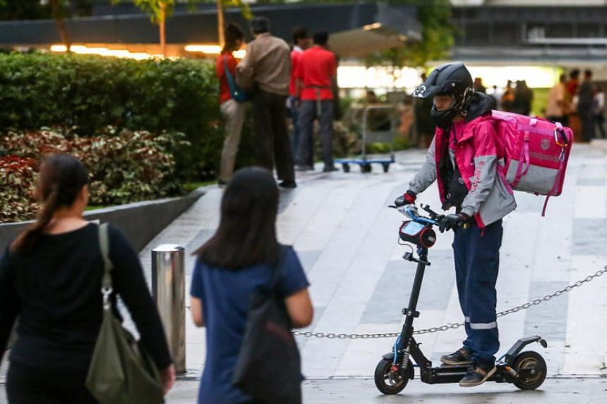Foodpanda, which has about 960 e-scooter riders, said more than a third of eligible riders have received approval from LTA.