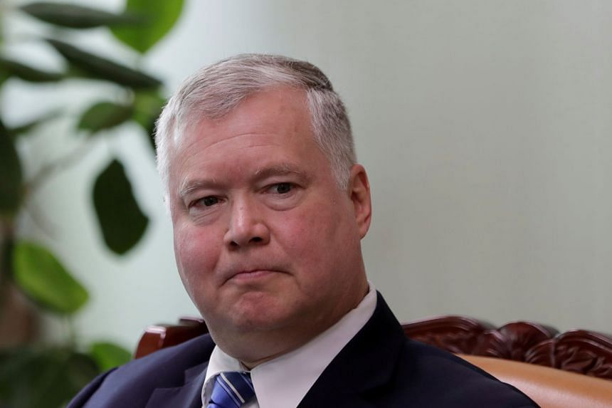 Biegun (above) made the remarks in prepared testimony for his nomination hearing for the State Department's No. 2 post.
