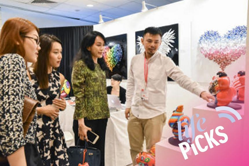 Visitors at the Affordable Art Fair 2016.