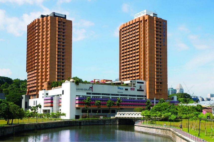 The 403-key Novotel hotel (right) will be sold to a consortium led by City Developments Limited and CapitaLand.