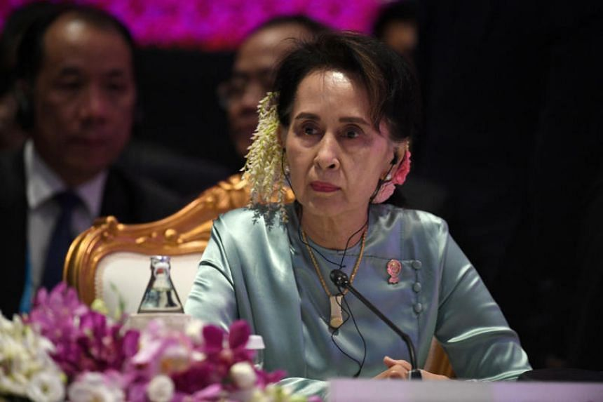 In a photo taken on Nov 4, 2019, State Counsellor of Myanmar Aung San Suu Kyi attends the 22nd Asean Plus Three Summit in Bangkok.