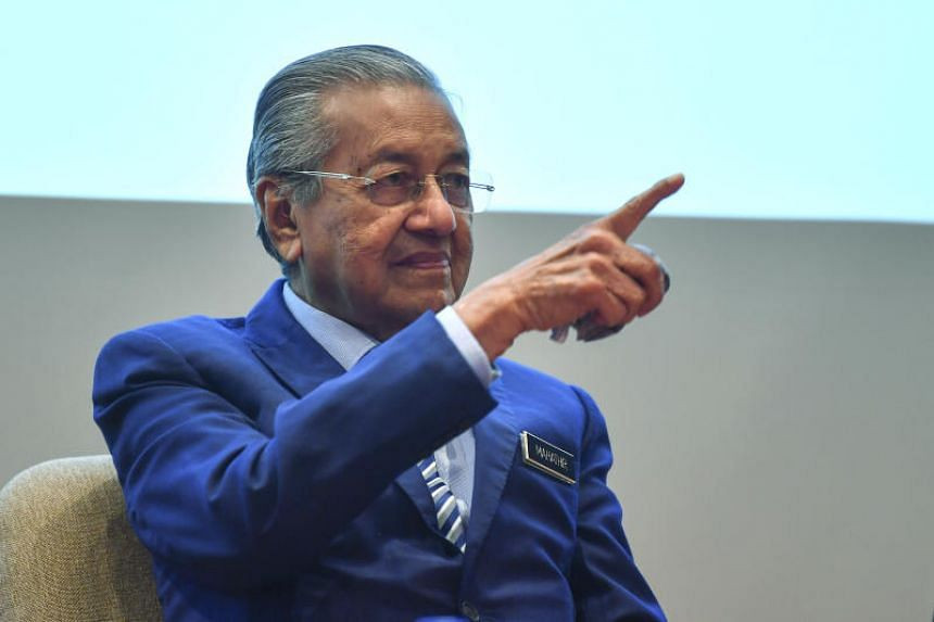 Malaysian Prime Minister Mahathir Mohamad speaks during a press conference following the pre-launch of the International Conference on Social Security 2019 at the Prime Leadership Foundation in Putrajaya on Nov 21, 2019.