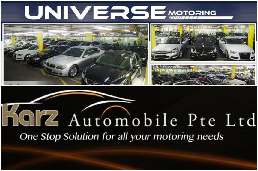 Universe Motoring (top) has since vacated its premises in Turf Club Road, while Karz Automobile has vacated its premises in West Coast Highway.