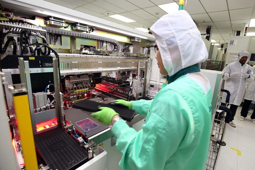 For now the sector still remains bogged down by electronics and decline in semiconductor output.