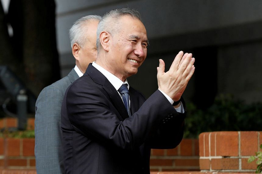 China's chief trade negotiator Vice-Premier Liu He arriving for trade negotiations with the US in Washington on Oct 10, 2019.