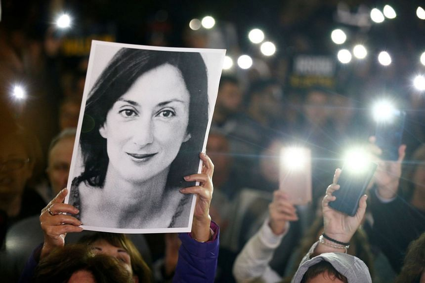 People call for the resignation of Prime Minister Joseph Muscat following the murder of journalist Daphne Caruana Galizia.