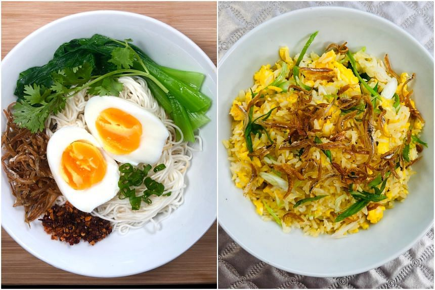 Huai Shan Noodles With Egg and Egg Fried Rice. The recipes for these dishes use austere ingredients but make for a luxurious meal.