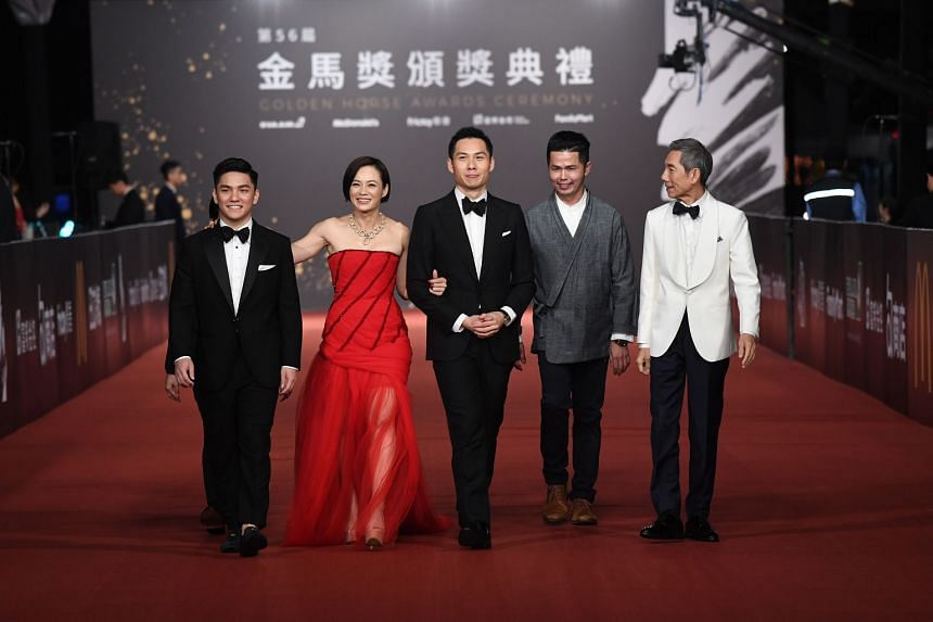 (From left) Wet Season actor Koh Jia Ler, female lead Yeo Yann Yann, director Anthony Chen, producer Huang Wenhong and supporting actor Yang Shibin.